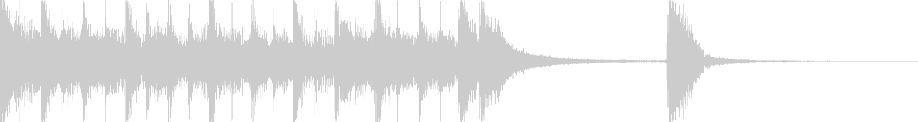 シンセとドラムの短いジングルの未再生の波形