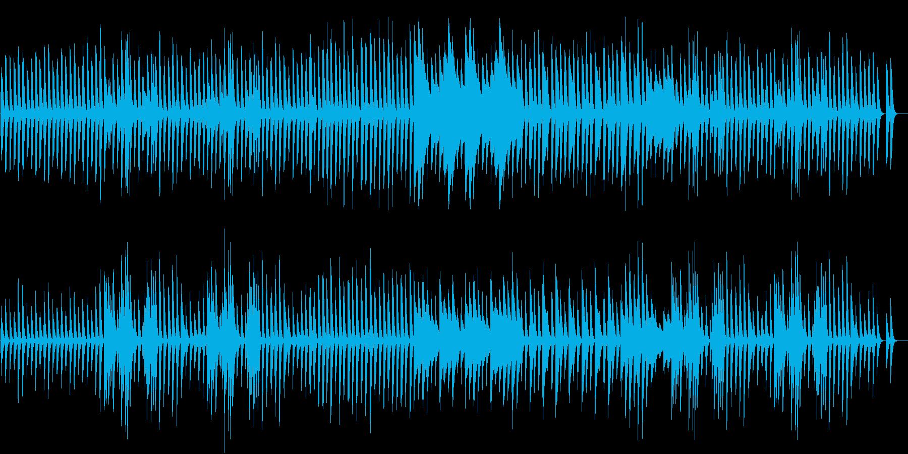 日常系アニメ風 ほのぼのピアノBGMの再生済みの波形