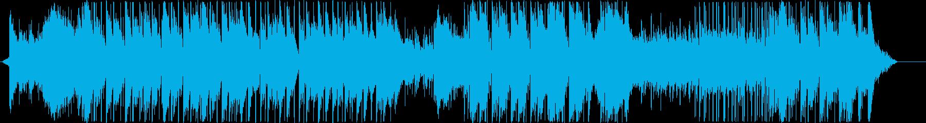 ダークなトラップ風BGMの再生済みの波形