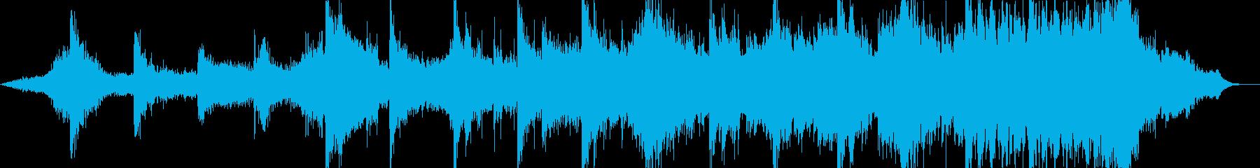 ハリウッドトレイラー風のジングルの再生済みの波形