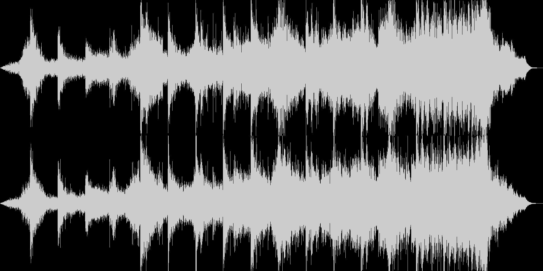 ハリウッドトレイラー風のジングルの未再生の波形