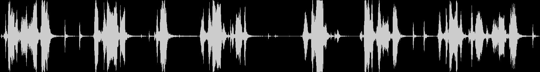 メガホンは手を上げて出てきますの未再生の波形