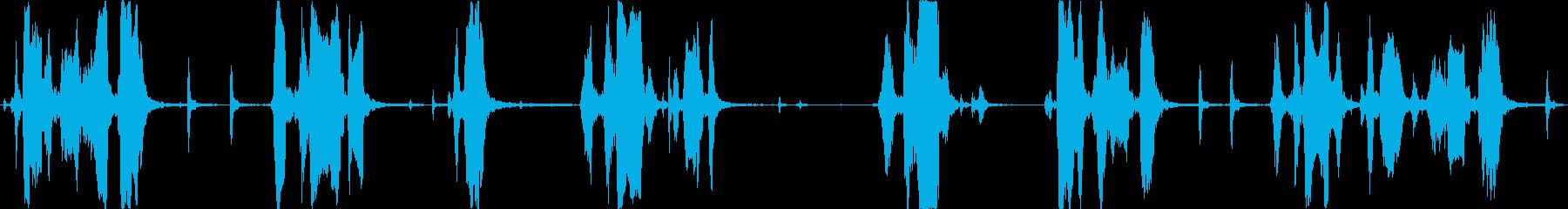 メガホンは手を上げて出てきますの再生済みの波形