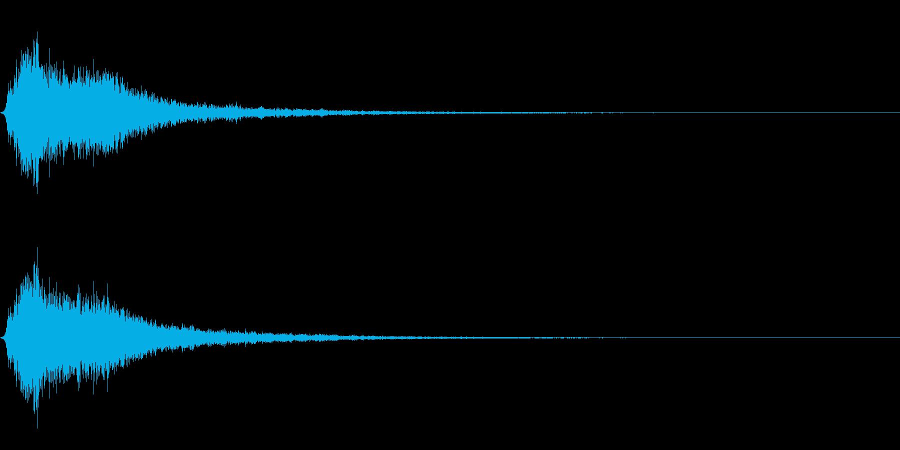 シャキーンの再生済みの波形