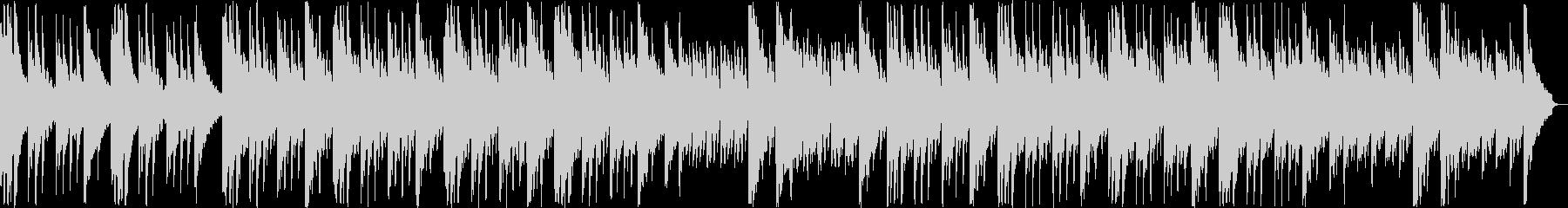 ゆっくりと安らぎのギター・シンセサウンドの未再生の波形