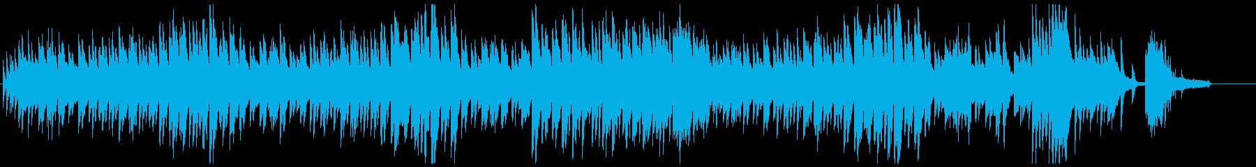 ピアノよるメロディアスで切ないワルツの再生済みの波形