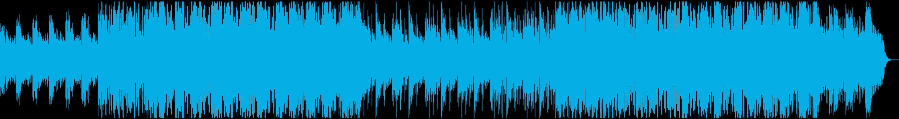 シンセを使用した技術的なエアリーな...の再生済みの波形