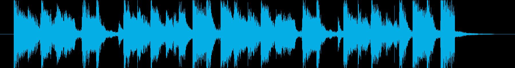 渋いブルース オープニングの再生済みの波形