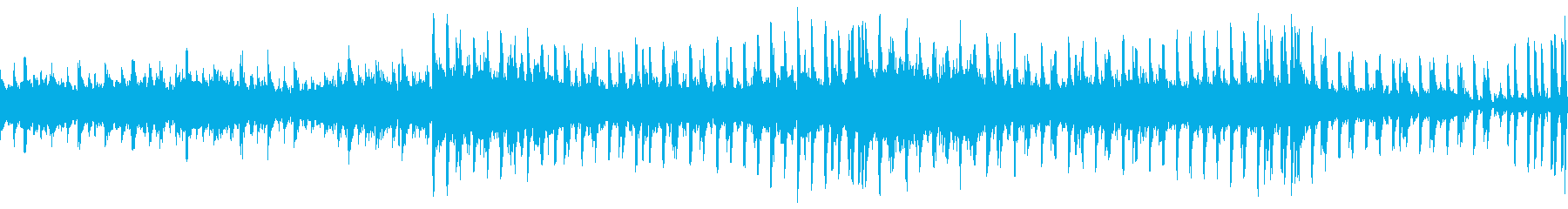期待感ある未来SF的オープニング曲の再生済みの波形