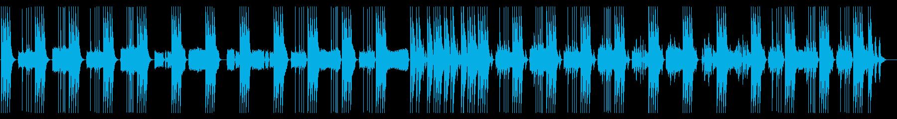 リズム抜】とぼけた、コミカル日常系BGMの再生済みの波形