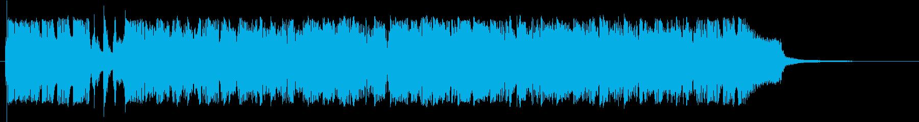 インパクト大な鋭く尖った勢いあるジングルの再生済みの波形