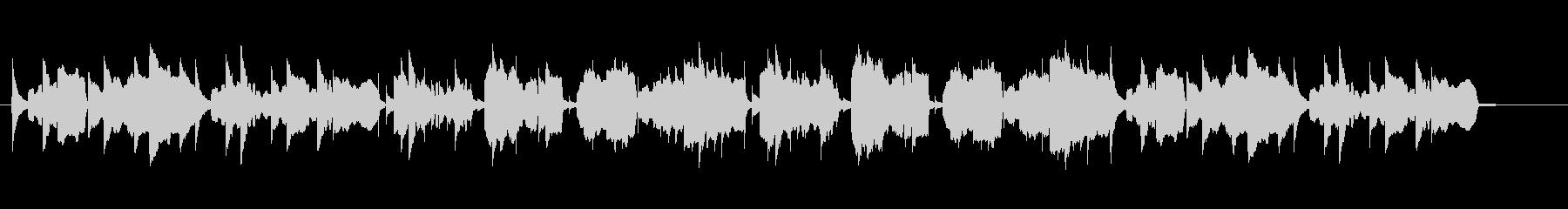 ほのぼのした雰囲気のリコーダー曲の未再生の波形