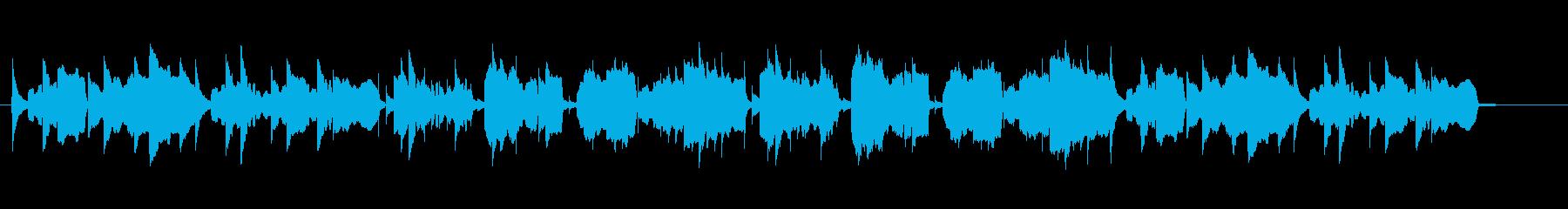 ほのぼのした雰囲気のリコーダー曲の再生済みの波形