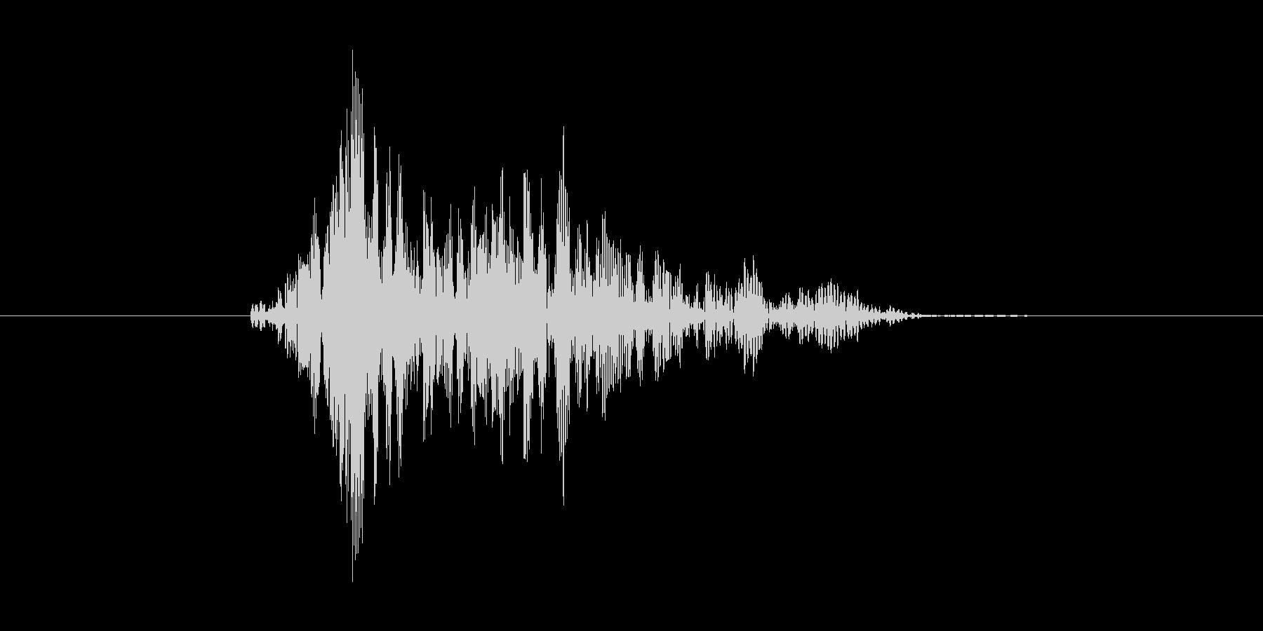 ヒューン(風を切る、振り回す)の未再生の波形