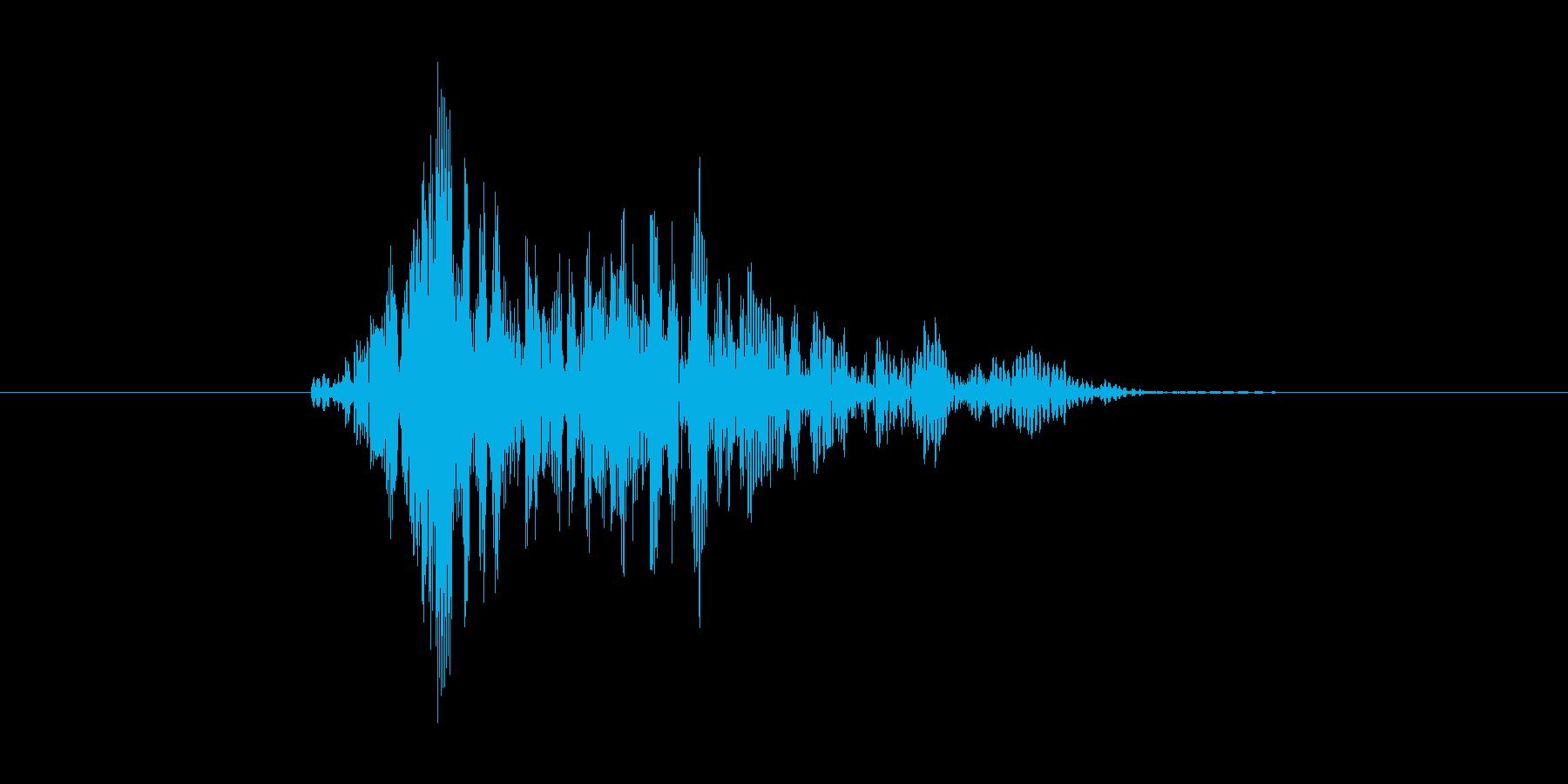 ヒューン(風を切る、振り回す)の再生済みの波形