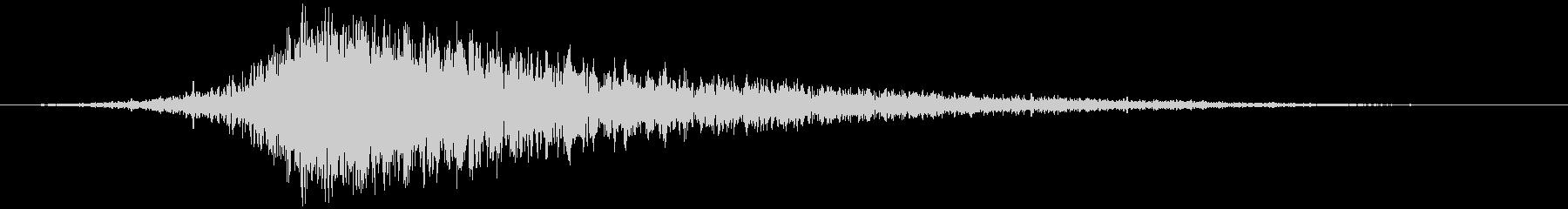 バーン:ハイブリット音:オープニングロゴの未再生の波形
