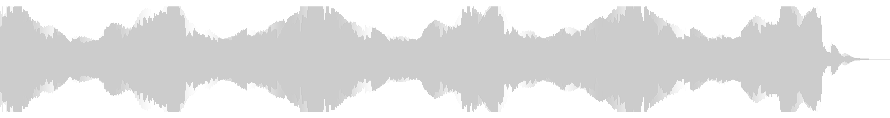 ヘビースペースベースシンセドローンの未再生の波形