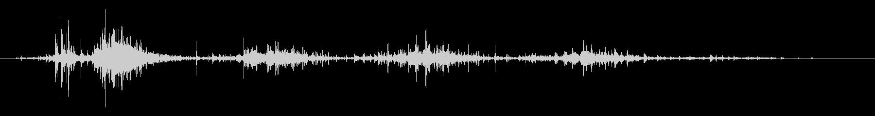 タブレッド菓子出す音・振る音8の未再生の波形