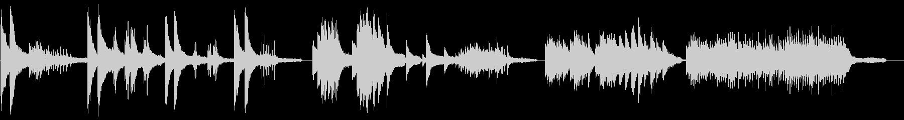 ドキュメンタリー風のピアノインストの未再生の波形