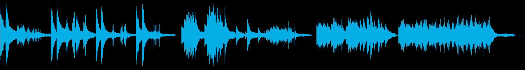 ドキュメンタリー風のピアノインストの再生済みの波形