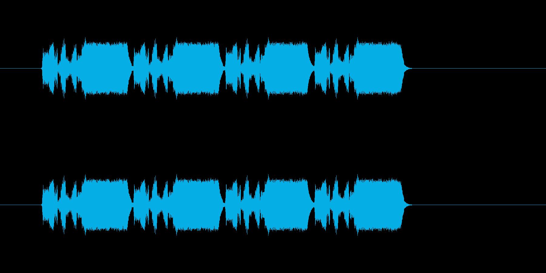 危険やエラーを感知したような唐突音の再生済みの波形