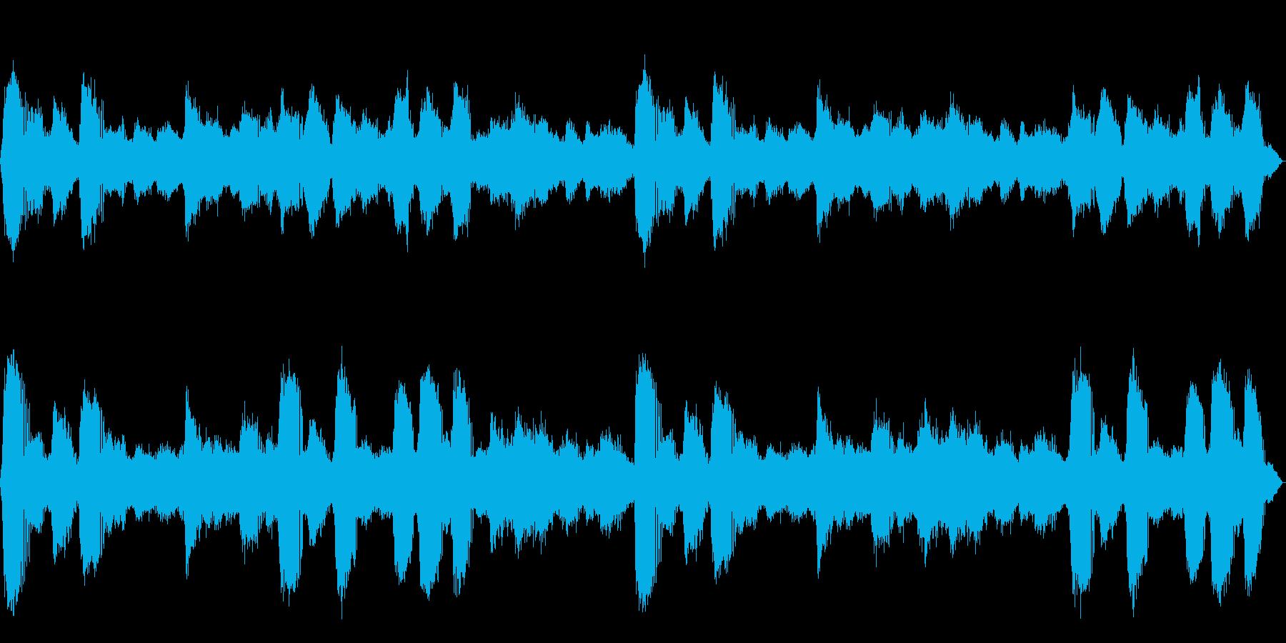 [生録音]ヒグラシの鳴く森01の再生済みの波形