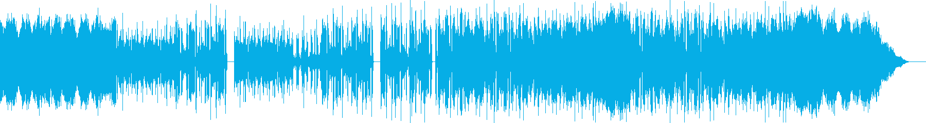FM音源風フィールド系BGMの再生済みの波形