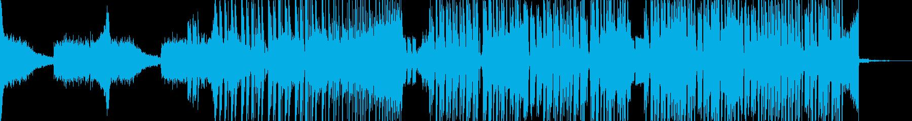 【アブストラクト】近未来で、おしゃれな曲の再生済みの波形