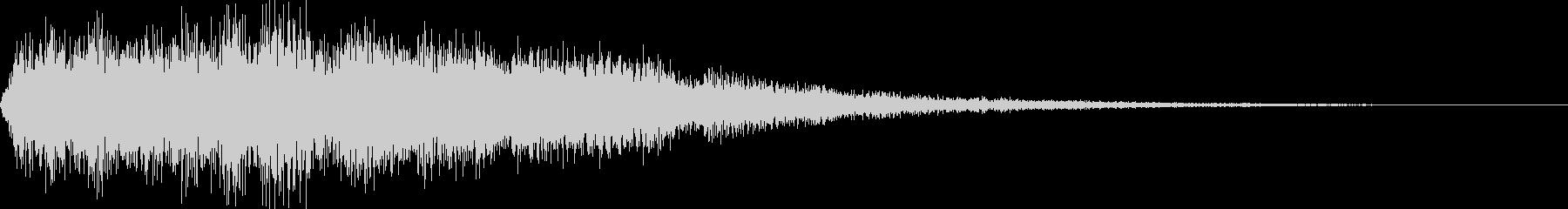 電車のクラクション(プアーンと鳴らす)の未再生の波形