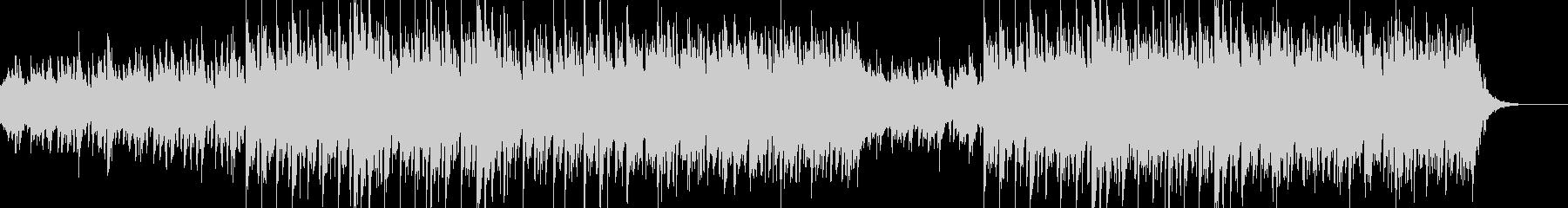 シンプルで素朴なBGMの未再生の波形