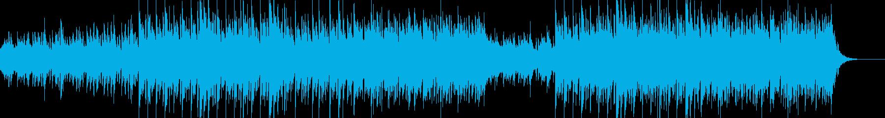 シンプルで素朴なBGMの再生済みの波形