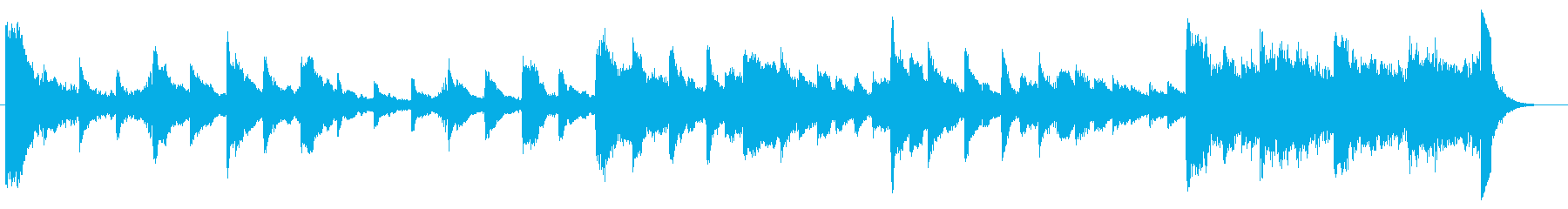 不気味なピアノソロ-60秒の再生済みの波形