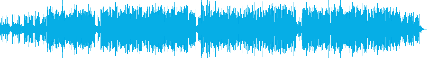 爽快感のあるトロピカルなBGMの再生済みの波形