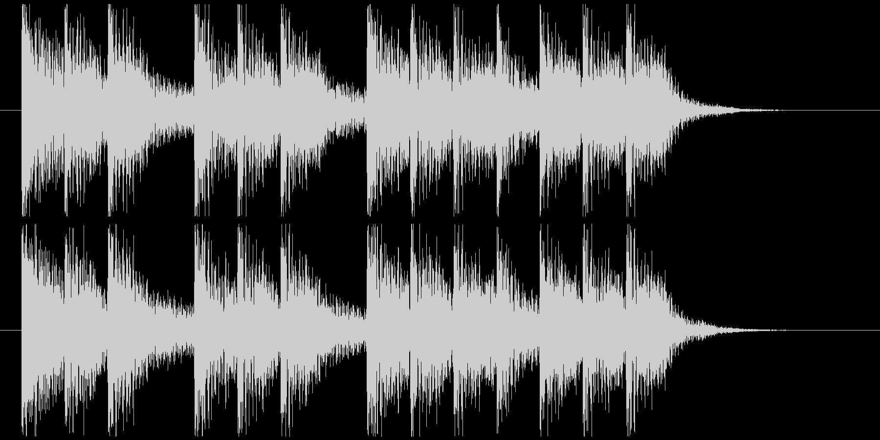 三三七拍子モチーフ力強い和風ジングル 3の未再生の波形