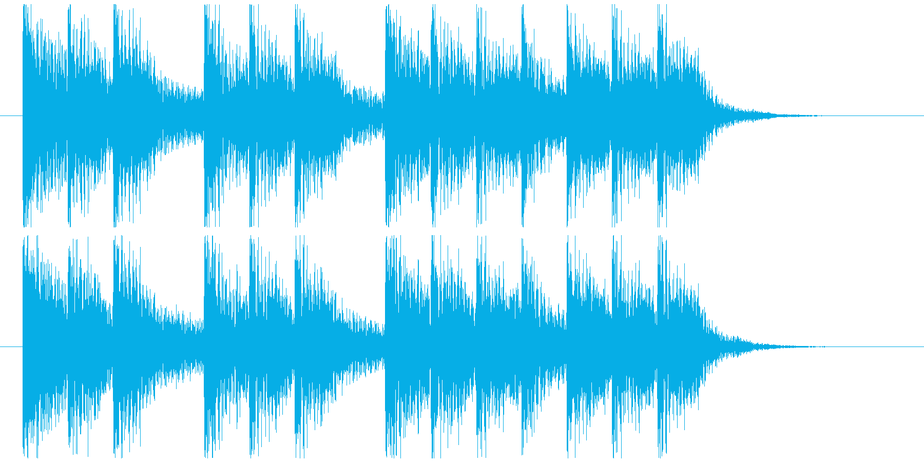 三三七拍子モチーフ力強い和風ジングル 3の再生済みの波形