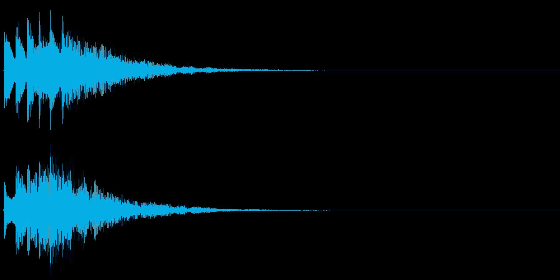 タララララン↓(場面転換、下降)の再生済みの波形