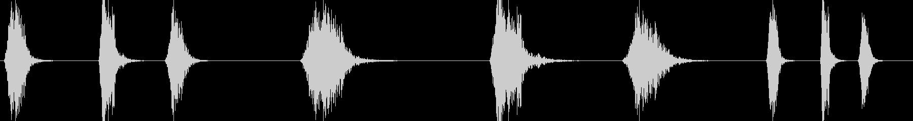 モノラルパスバイの未再生の波形