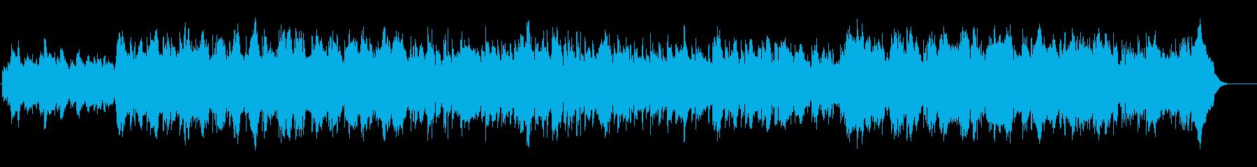 緊迫感漂うサイコ・サスペンス風BGMの再生済みの波形