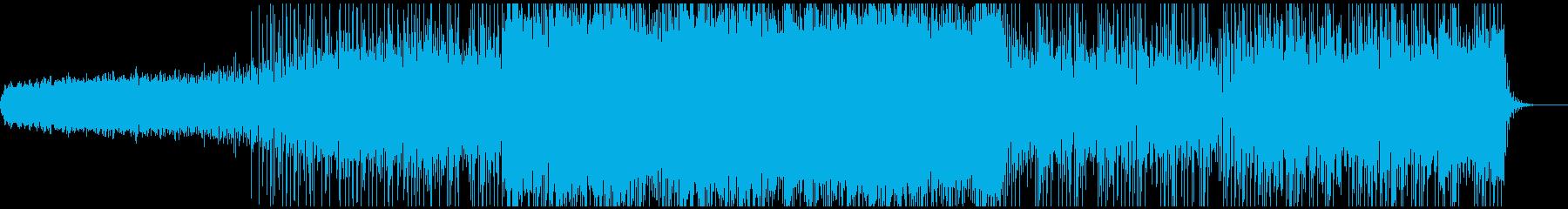 和楽器とシンセサイザーとノイズのミックスの再生済みの波形