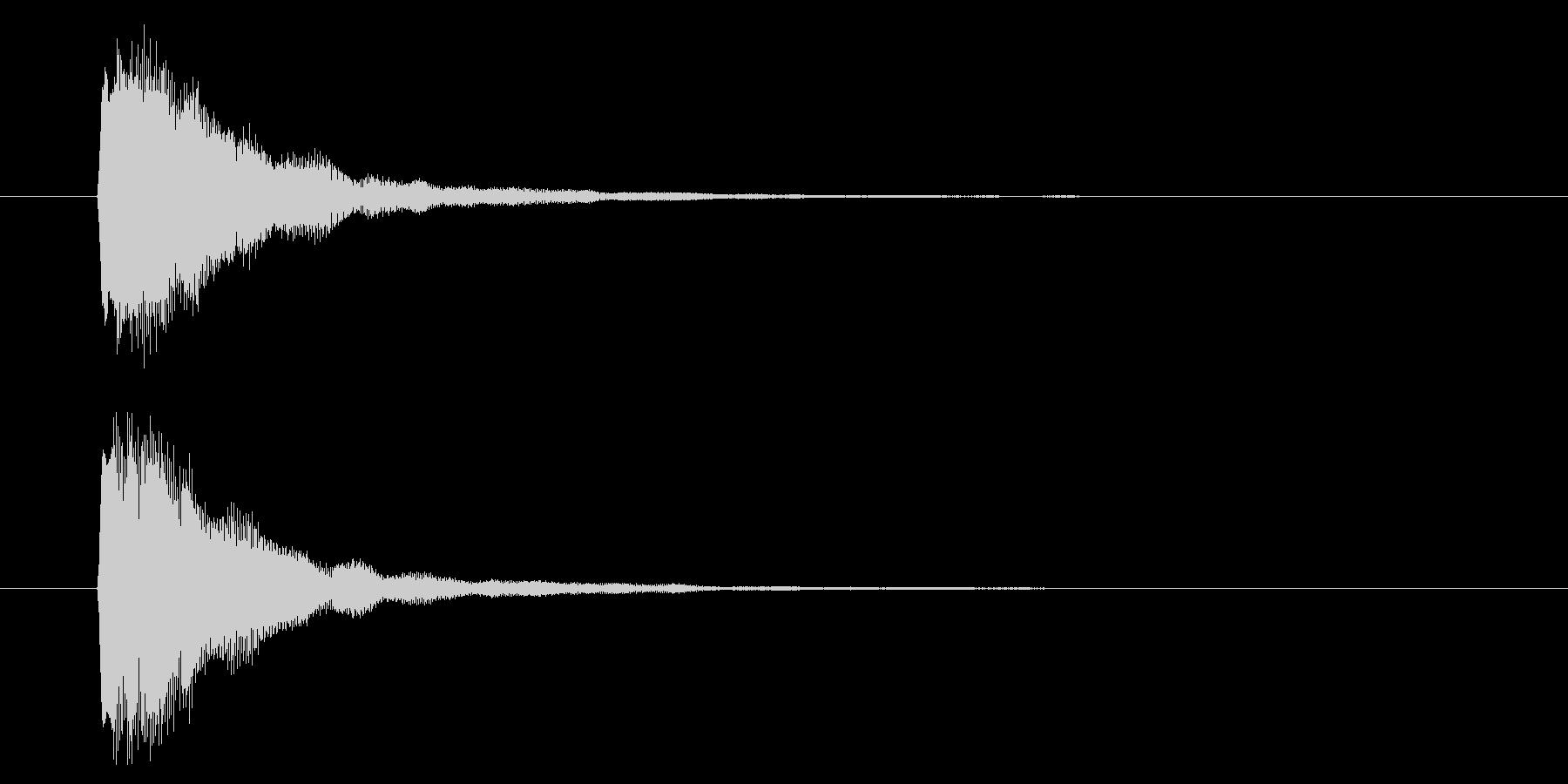 短い決定音の未再生の波形