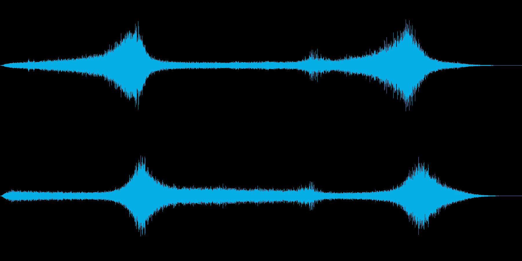 【生録音】 早朝の街 交通 環境音 19の再生済みの波形