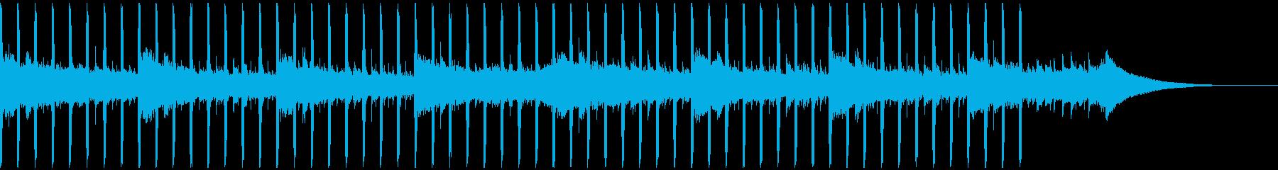 インタビュー(35秒)の再生済みの波形