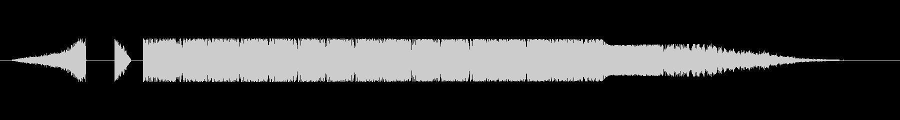 EDM系テクノポップのかっこいいジングルの未再生の波形