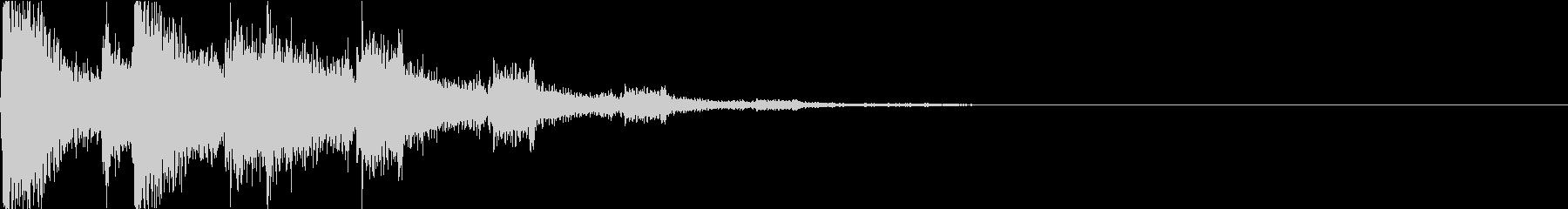 ブン・バリン:瓶が割れる音・衝撃・物音の未再生の波形