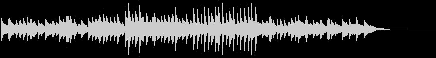 4分5拍子の哀愁ただよう秋ピアノジングルの未再生の波形