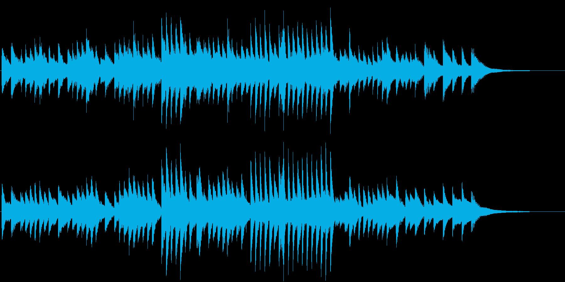 4分5拍子の哀愁ただよう秋ピアノジングルの再生済みの波形