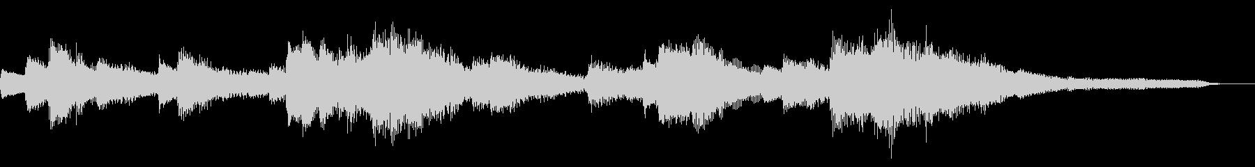 15秒のジャズのジングル21-ピアノの未再生の波形