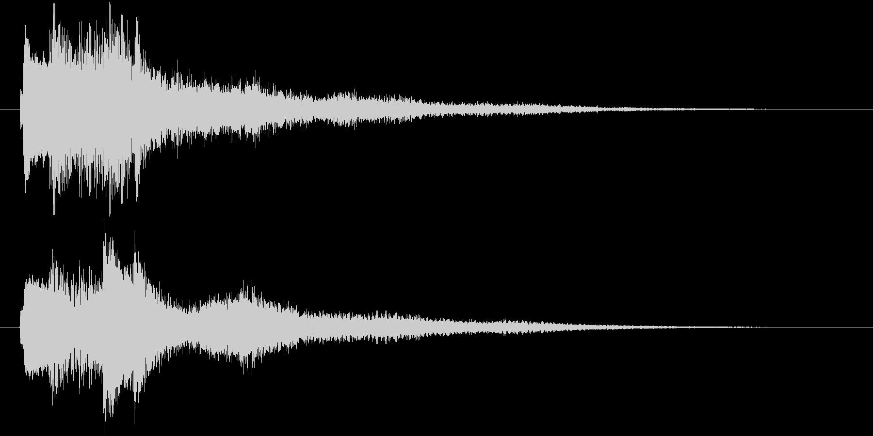キラキラなサウンドロゴの未再生の波形