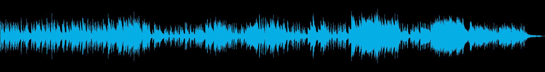 森に迷い込んだようなピアノ曲の再生済みの波形