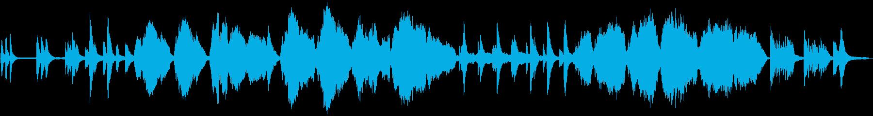 ピアノトリオの切ないバラードの再生済みの波形